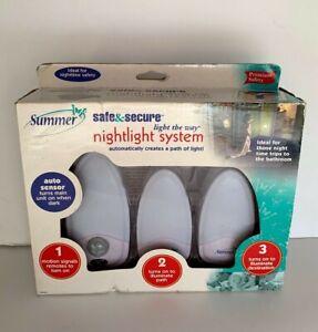 Summer Auto Sensor Safe & Secure Light The Way NIGHTLIGHT System NOS