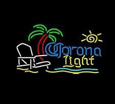 "Corona  Light Neon Sign Real Neon Store Display Beer Bar Pub Sign20""X16""E031"