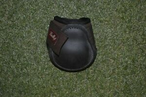 FETLOCK BOOTS LARGE SIZE BROWN WITH BLACK STRIKE PADS NEOPRENE AND RUBBER