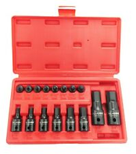 16PC Metric Hex Allen Master Impact Socket Bit Set CR-MO Steel 1/4 3/8 1/2 Dr