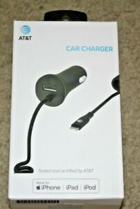 AT&T iPhone Rapid Car Charger 4.8 amp for  X 8 7 / Plus 11 Pro Max  w/ USB Port