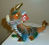 NM* Ty Beanie Baby - DRAGON (Chinese ZODIAC)(10.5 Inch) CREASED TAG