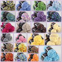 Sale New 3 balls x50gr Soft Cotton Baby Yarn Hand-dyed Wool Socks Scarf Knitting