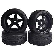 4PCS RC 1:10 On-Road Drift Car Tyre Tires & Wheel Rim HSP flying fish 6030-9015