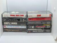 80s Cassette tape lot..Rock / Alternative / R&B etc -Scorpions,Simple Minds,Sade