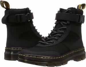 Men's Shoes Dr. Martens COMBS TECH 8 Eye Nylon Combat Boots 25215001 BLACK