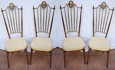 4 Sedie alte High back chairs, Mid-century Italian design in Gio Ponti style