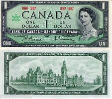 CANADA 1 Dollar Banknote World Paper Money Currency Pick p84a Queen Elizabeth II