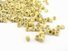 PACK OF 1000 SILICONE MICRO RINGS BEADS 5mm BLONDE FOR I-TIP FEATHER EXTENSIONS