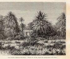 ALGERIE ALGERIA HAMMAN BOU GHARA EAUX CHAUDES  IMAGE1884 PRINT