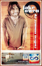 JAKE OWEN Endless Summer Ltd Ed Discontinued RARE Poster +FREE Country Poster!