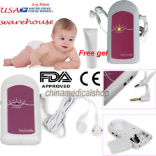 CE&FDA Ultrasonic Prenatal Pocket Fetal Doppler Baby Heart Beat Monitor Free Gel