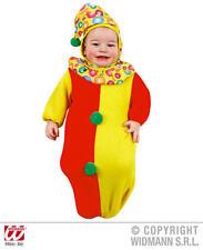 Baby Clown Bonnet And Bib Halloween Circus Fancy Dress Costume