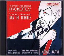 Neeme JÄRVI Signiert PROKOFIEV Ivan The Terrible JARVI Linda Finnie Storojev CD