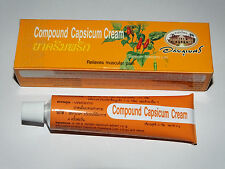 Compound Capsicum Cream Capsaicin  Arthritis Aches Joint Pain Sprains 25g Tube