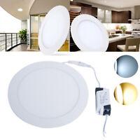 Round 3W-24W LED Recessed Ceiling Panel Light Ultra Slim Flat Downlight Kit UK