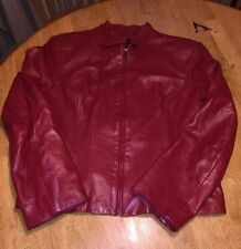 "Women""s  VS2 Red leather Jacket Size Large"