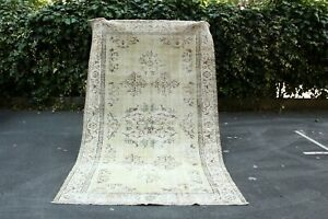 Vintage Runner Turkish Antique Rug Lowpile Distressed Oushak Rug Tribal Runner