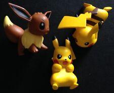 3 X TOMY Pokemon Figures 2 Pikachu 1 Eevee RARE - Save £2 Multibuy