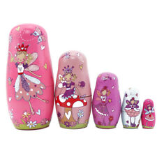 5x Fairy   Girl Matryoshka Russian Wooden Babushka Doll Nesting Dolls 6A