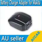 USB Mobile battery charger adaptor for Makita 14.4V 18V BL1830 BL1815 Li-ion AU