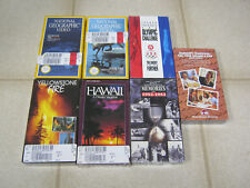 New VHS lot (7), Yellowstone Fire, Hawaii, National Geographic, etc., SEALED!