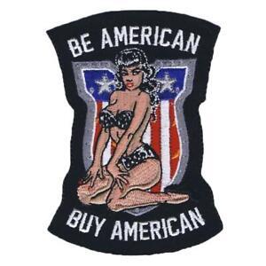 Lethal Threat Be Américain Acheter Drapeau Pinup Patriotique Biker Patch MN32047