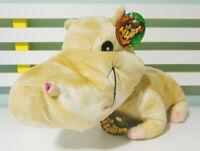 Jungle Snubbies Hippopotamus Plush Toy w/ Swing Tag 41cm Long! Toy Network Hippo
