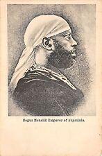 B86435 negus menelik emperor of abyssinia royalty  ethiopia
