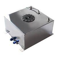 Polished Aluminum OEM Fuel Cell Tank + Sender Hot Rod Rat V8 10 Gallon New