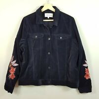 [ TABLE EIGHT ] Womens Embroidered Sleeves Velvet Jacket | Size AU 16 or AU 12