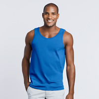 Gildan Mens Heavy Cotton Tank Top T-Shirt workwear Gym breathable fit. - 5200