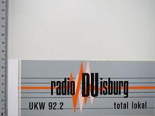 Aufkleber Sticker Radio Duisburg NRW Rundfunk Sender (S1177)