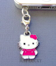 Hello Kitty cell phone Charm Anti Dust proof Plug ear cap jack For iPhone C144