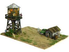 Z Scale Custom Built Rail Yard Office Building Water Tower Truck People Diorama