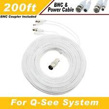 WHITE 200FT  BNC CABLES FOR  QSEE QT5716, QT5682, QT5680, QT228, QT5440