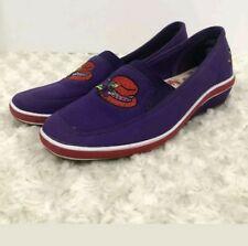 GRASSHOPPERS by Keds Red Hat Society Purple Wedged Heel Slip-On Shoes Size 6 M