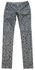 """MARRIED To The MOB sz 27 x 34"""" L Long Skinny Jeans 34th Street Gray Floral Print"""