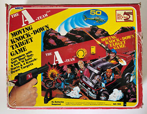 Rare 1983 Arco The A-Team Moving Knock Down Target Game Mr. T MIB Vintage HK
