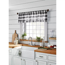 "15""x54"" Window Valance Small Check Gray - Threshold"