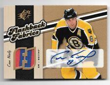Cam Neely Bruins 2006-07 SPx Flashback Fabrics Auto Autograph Jersey