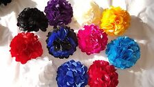 Joblot 30 Pcs Mixed Colour Faux Silk Flower Hairclips/broach Wholesale