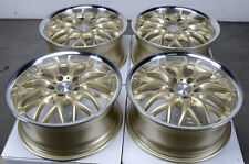 17 5x112 Rims Gold Fits Mercedes Benz S430 E Class S500 S600 Passat Jetta Wheels