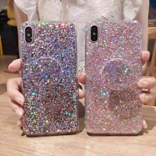 Bling Case Soft TPU Case with Pop Up Socket Phone Holder For Various Phones