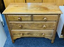 Rustic Carved Oak Chest Of Drawers Bedroom Storage Unit Very Good Condition