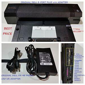 Dell Docking Station EPort Plus PRO2X + Adapter Latitude E6400 E6410 E6420 E6500
