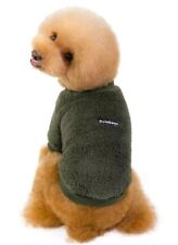 """8. 6"""" Soft Plush Cosy Green Puppy Dog Teacup Chihuahua Cat Jumper Coat Winter"""