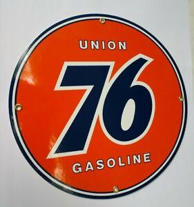 Union 76 Gas Oil Gasoline Porcelain Sign