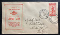 1936 Studholme New Zealand First Day Cover FDC To Christchurch Anzar Day