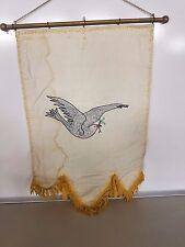 Odd Fellows Banner Embroidered Vintage White Dove Maine Rebekah